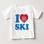 Amo el esquí playera