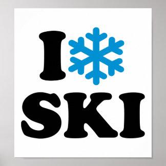 Amo el esquí póster