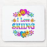Amo el esquiar alfombrillas de ratones