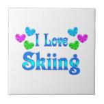 Amo el esquiar azulejos