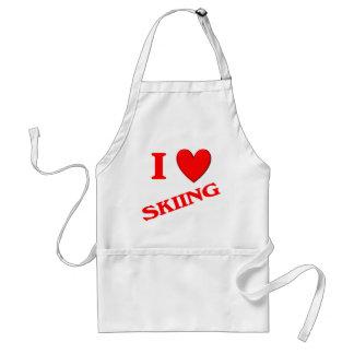 Amo el esquiar delantal