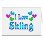 Amo el esquiar felicitaciones