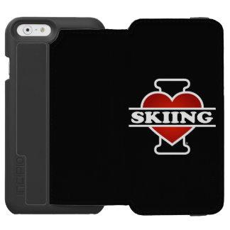 Amo el esquiar funda billetera para iPhone 6 watson