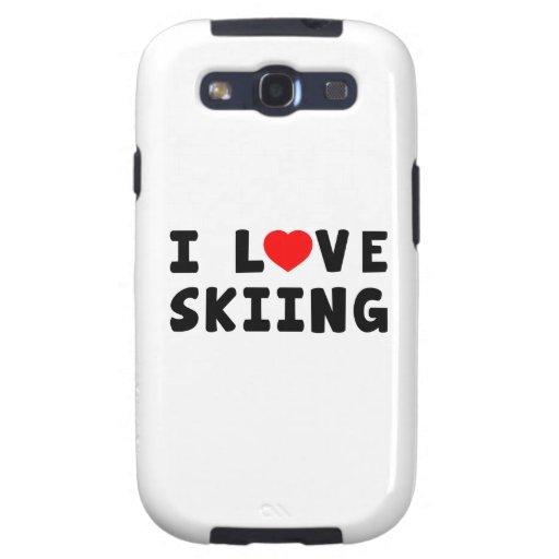 Amo el esquiar galaxy SIII funda