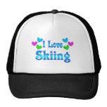 Amo el esquiar gorra