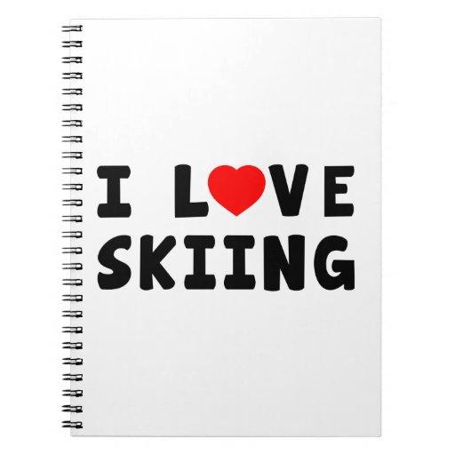 Amo el esquiar libretas