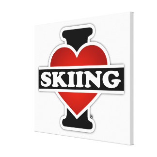 Amo el esquiar lona estirada galerías