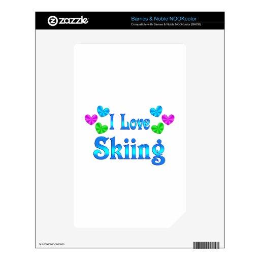 Amo el esquiar NOOK color skins