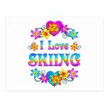 Amo el esquiar postal