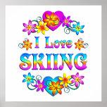 Amo el esquiar posters