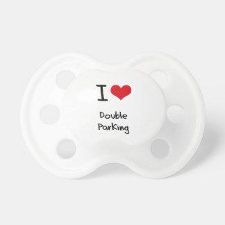 Amo el estacionamiento doble chupetes de bebe