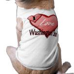Amo el estado de Washington Camiseta De Perro