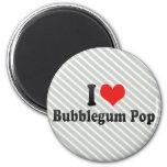 Amo el estallido de Bubblegum Imanes De Nevera
