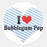 Amo el estallido de Bubblegum Pegatinas Redondas