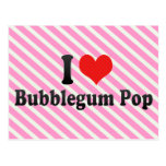 Amo el estallido de Bubblegum Postales