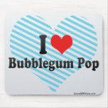 Amo el estallido de Bubblegum Tapetes De Ratones
