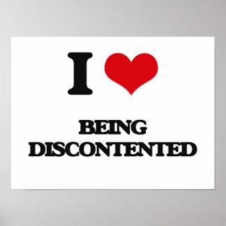 Amo el estar descontento poster