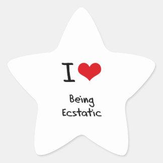 Amo el estar extático pegatina forma de estrella