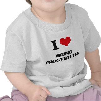 Amo el estar helado camiseta