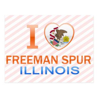 Amo el estímulo de Freeman IL Tarjetas Postales