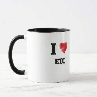 Amo el etc taza