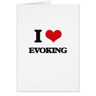 Amo el EVOCAR Tarjeta De Felicitación