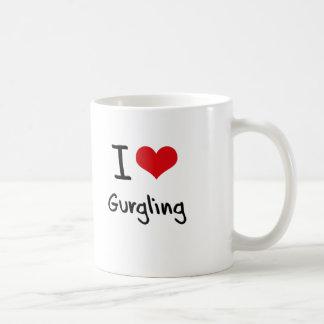 Amo el expressar con gorjeos taza de café