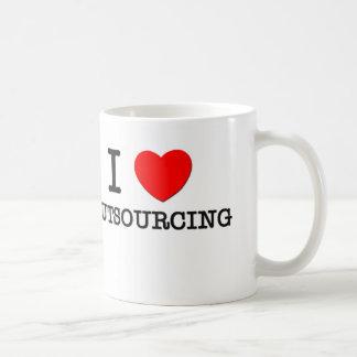 Amo el externalizar tazas de café