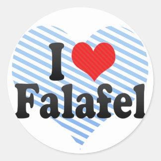 Amo el Falafel Pegatina Redonda