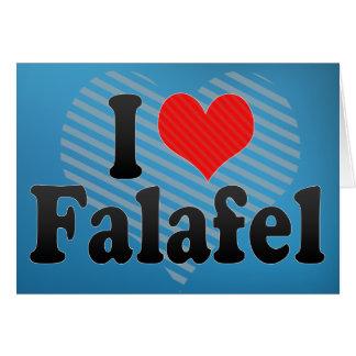 Amo el Falafel Tarjeta De Felicitación