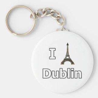 Amo el fall turístico de Dublín Llavero Personalizado