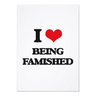 Amo el Famished Invitación 12,7 X 17,8 Cm
