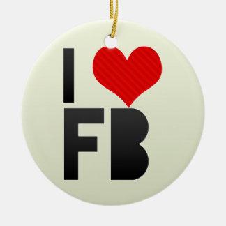Amo el FB Ornamento De Navidad