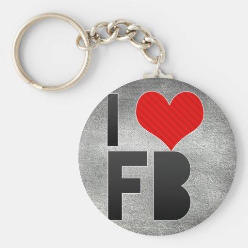 Amo el FB Llaveros Personalizados