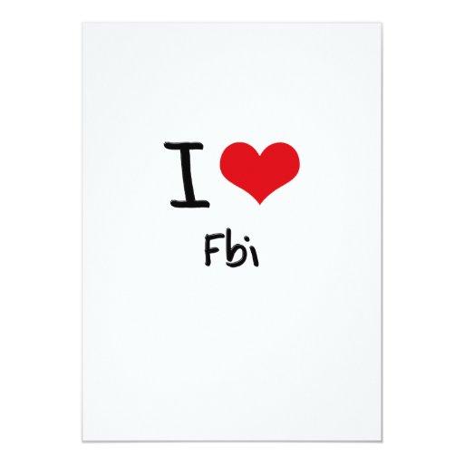 """Amo el Fbi Invitación 5"""" X 7"""""""
