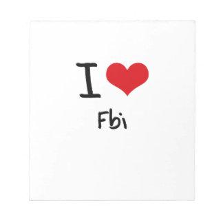 Amo el Fbi Libretas Para Notas