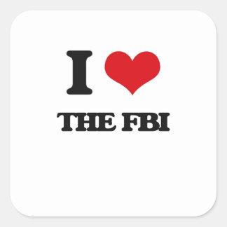 Amo el Fbi Pegatina Cuadrada