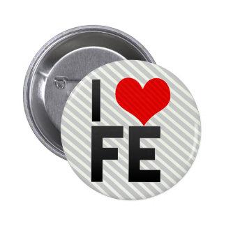 Amo el FE Pin Redondo 5 Cm