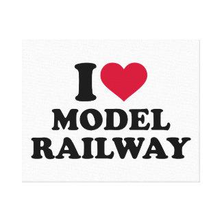 Amo el ferrocarril modelo lona estirada galerías