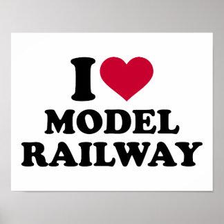 Amo el ferrocarril modelo póster