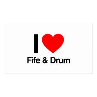 amo el fife y el tambor tarjeta de visita