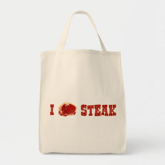 Amo el filete bolsa tela para la compra