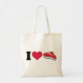 Amo el filete bolsa de mano
