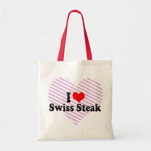 Amo el filete suizo bolsa tela barata