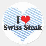 Amo el filete suizo pegatinas