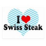 Amo el filete suizo postal