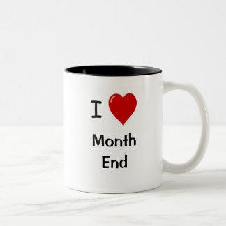 ¡Amo el fin de mes! - De doble cara Taza De Dos Tonos