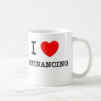 Amo el financiar de nuevo taza de café