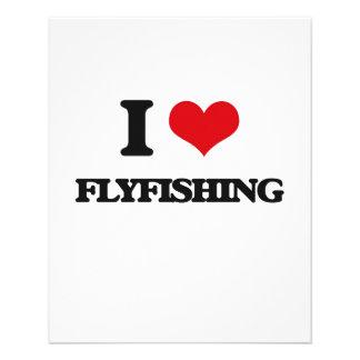 Amo el Flyfishing Folleto 11,4 X 14,2 Cm
