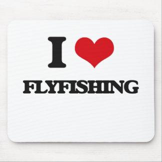 Amo el Flyfishing Alfombrilla De Ratón